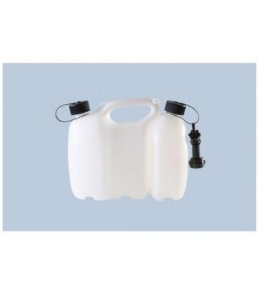 Dubbele brandstof jerrycan Profi 6+3 liter naturel