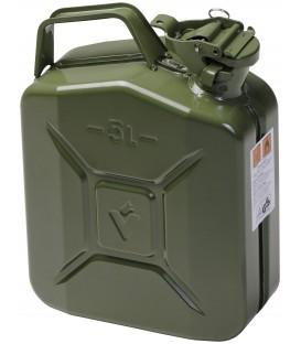 Jerrycan 5 liter metaal / groen UN-keur.  Hünersdorff