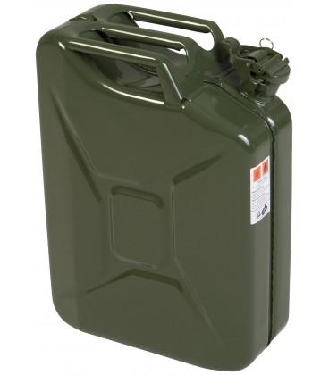 Jerrycan 20 liter metaal/groen UN-keur. Hünersdorff