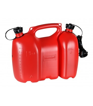 Dubbele brandstof jerrycan Profi 6+3 liter Rood