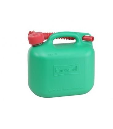 Jerrycan 5 liter groen voor Benzine/Diesel UN-keur Hünersdorff