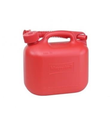 Jerrycan 5 liter rood voor Benzine/Diesel UN-keur Hünersdorff