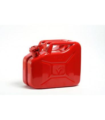 Jerrycan 10 liter van metaal, Rood. Hünersdorff