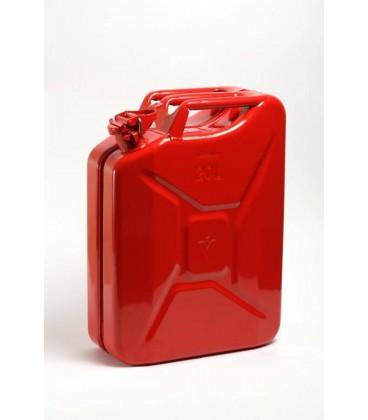 Jerrycan 20 liter metaal/ Rood UN-keur. Hünersdorff