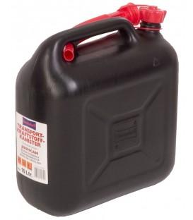 10 liter Brandstof jerrycan zwart voor o.a. benzine en diesel