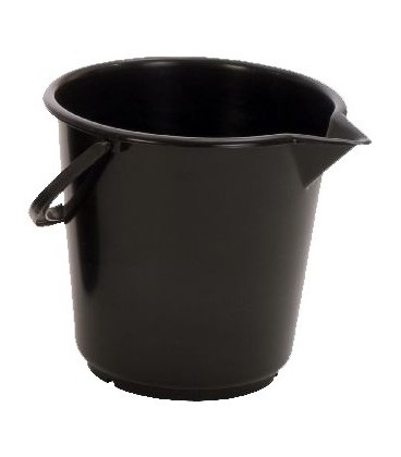 Emmer 17 liter met tuit zwart